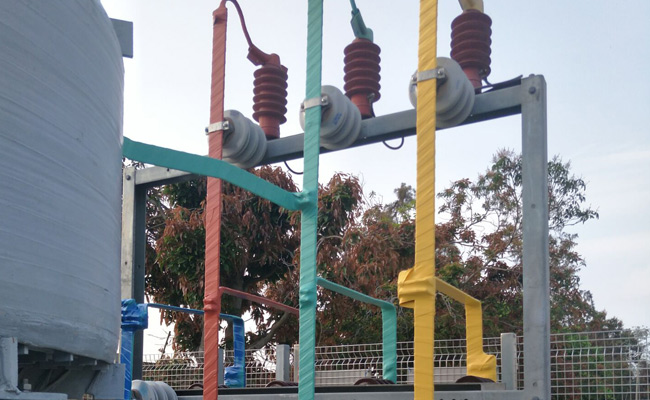 Busbar Insulation Project For Whole Substation By Silicone Rubber Self-Fusing Insulation Tape